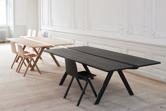 Table and Chair by Ronan and Erwan Bouroullec for HAY table tops bouroullec