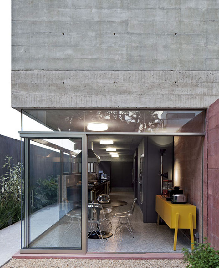 Boacava House concrete wall house