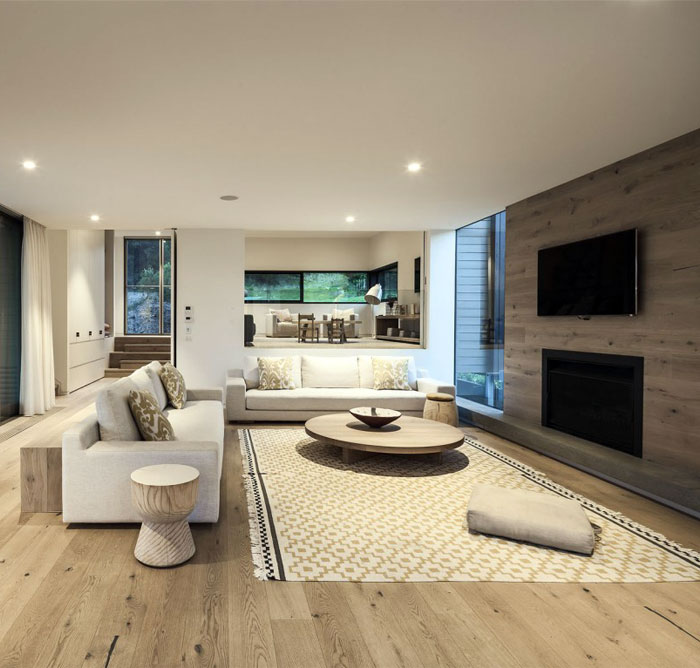 Contemporary residence by jam architecture interiorzine for Australian living room ideas