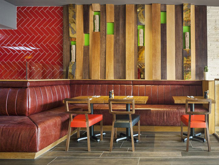 Mexican restaurant by brown studio interiorzine - Restaurant wall decor ideas ...