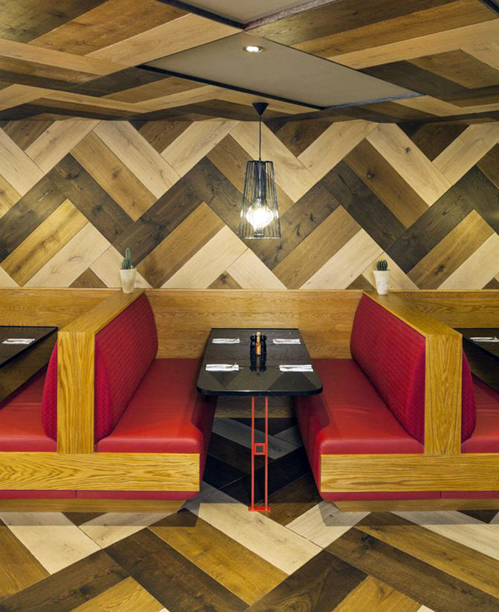 Mexican Restaurant by Brown Studio mexican restaurant interior wood decor