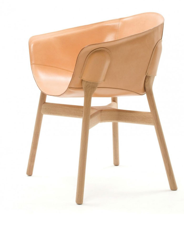 Small Armchair in Natural Soft-touch Effect