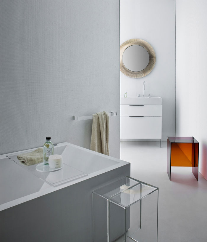Plastic Meets Ceramic in Kartell by Laufen bathroom kartell laufen