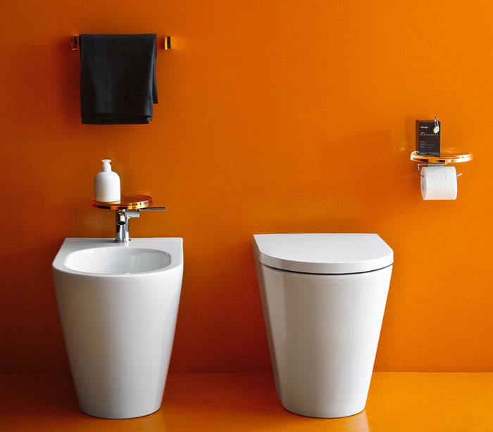 Plastic Meets Ceramic in Kartell by Laufen bathroom kartell laufen2