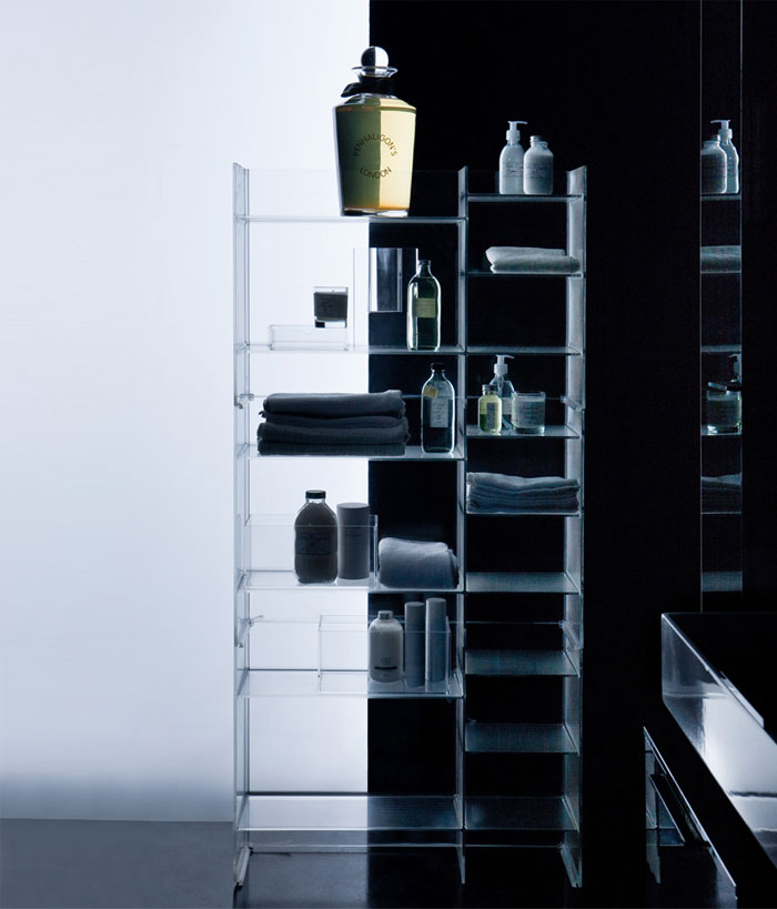 Plastic Meets Ceramic in Kartell by Laufen bathroom kartell laufen4