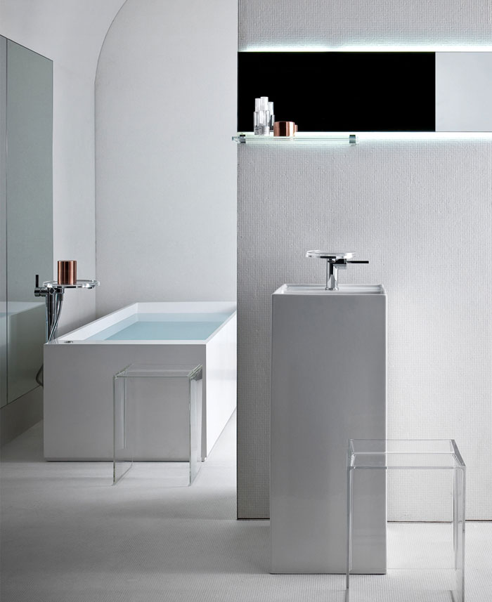 Plastic Meets Ceramic in Kartell by Laufen bathroom kartell laufen5