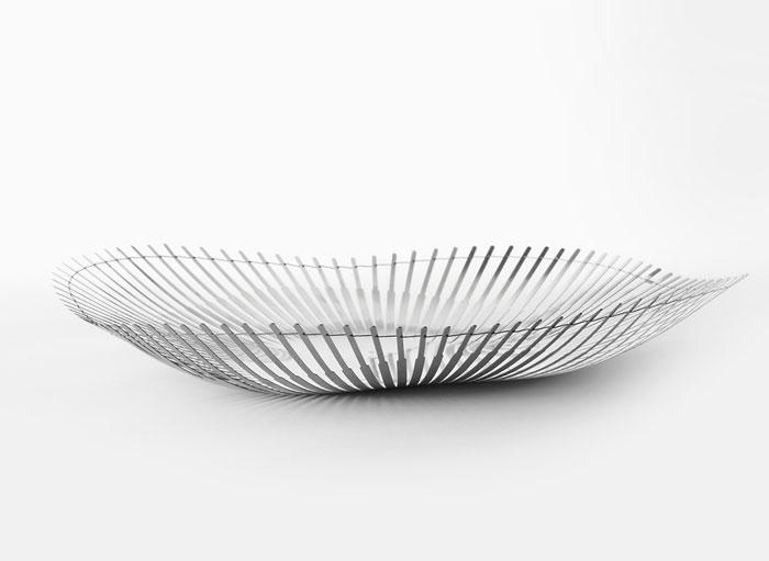 Delicate Steel Bowls thalie plate