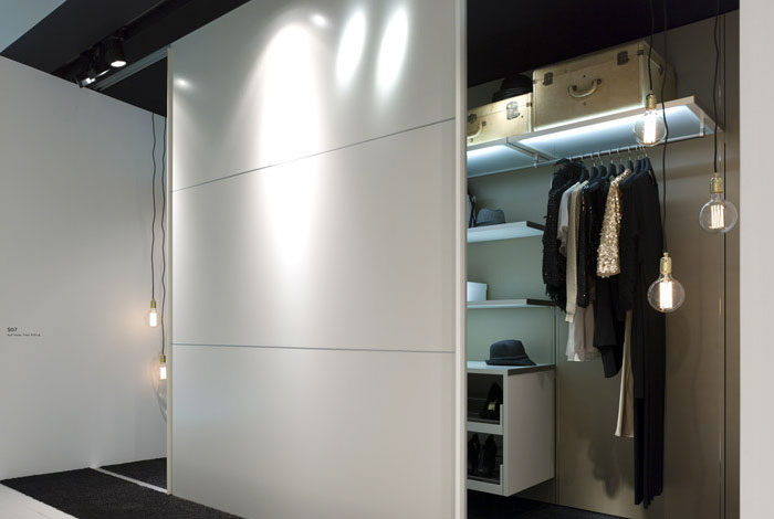 COR and Interlübke in Milan The New 2013 Collections wardrobes panel2