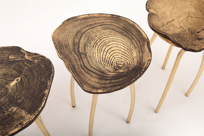 Metal Furniture by Sharon Sides stumps collection stools