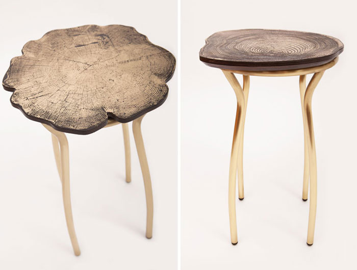 Metal Furniture by Sharon Sides stumps collection stools2