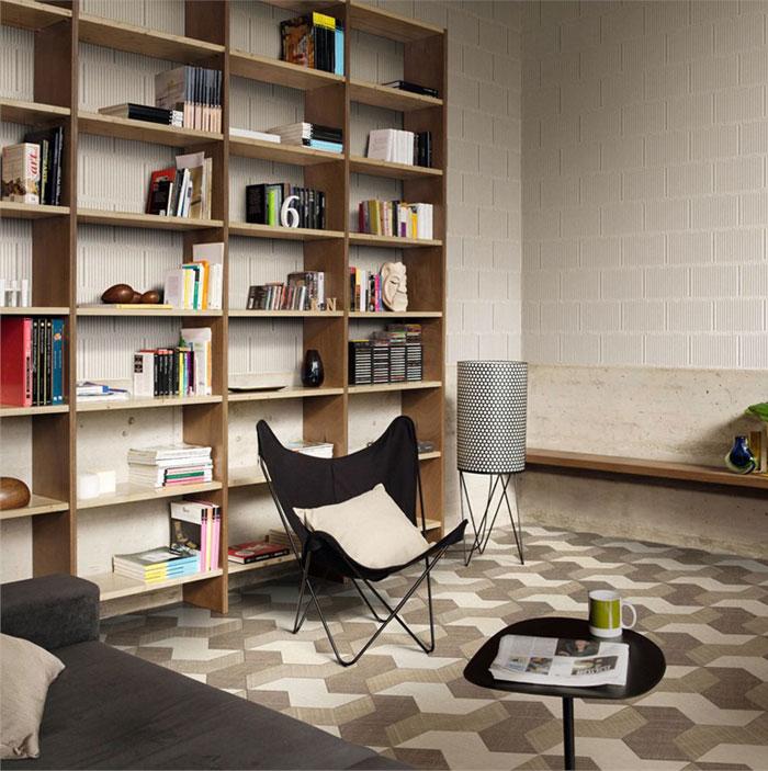 large format porcelain tiles in a slimline   interiorzine