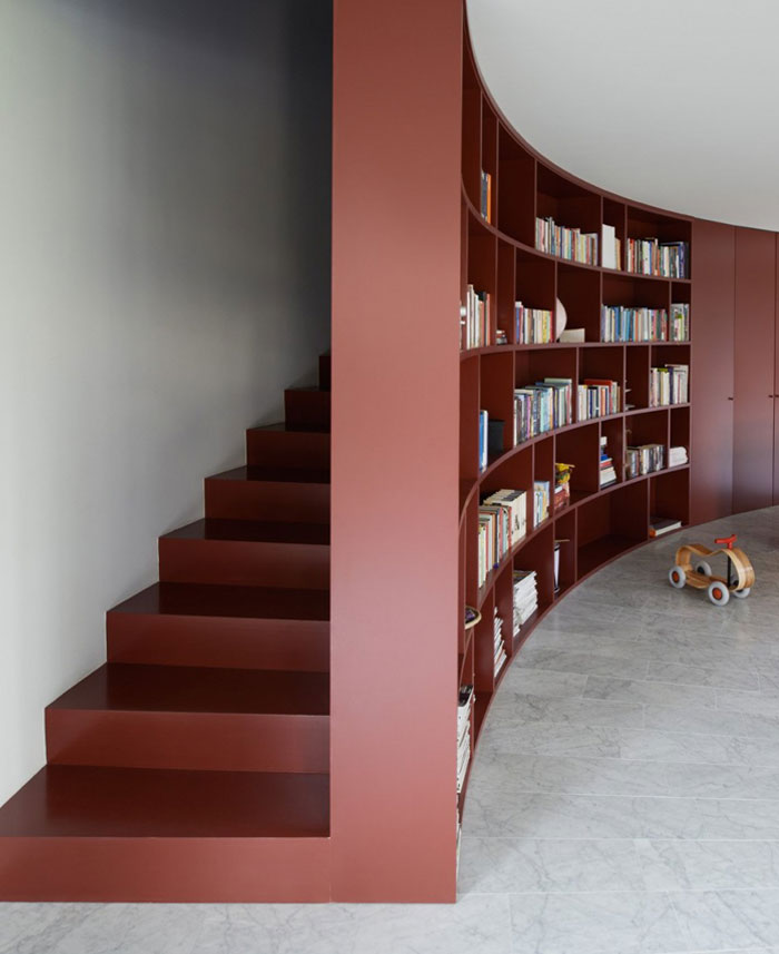 curved l shape house interiorzine. Black Bedroom Furniture Sets. Home Design Ideas