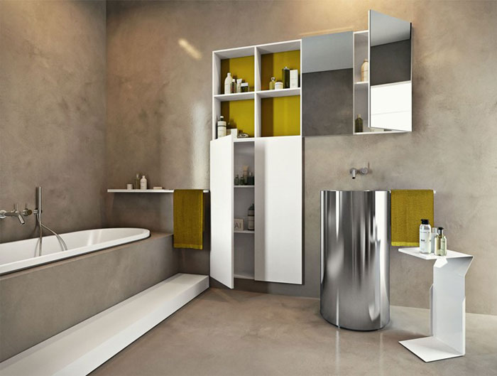Sophisticated bathroom storage units interiorzine for Bathroom cabinets makro