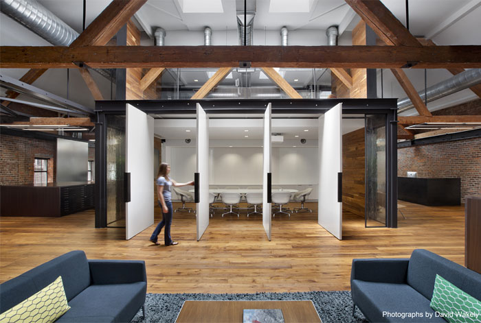 Natural and rustic interior of a creative agency for Creative agency interior design