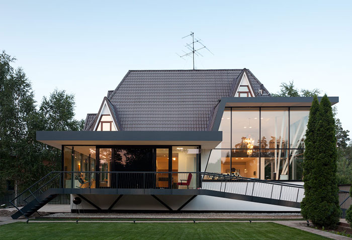 4a architekten give character to residential house in moscow interiorzine