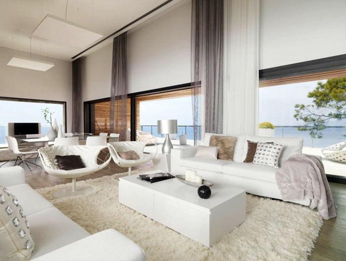 white-leather-furniture -white-fluffy-carpets