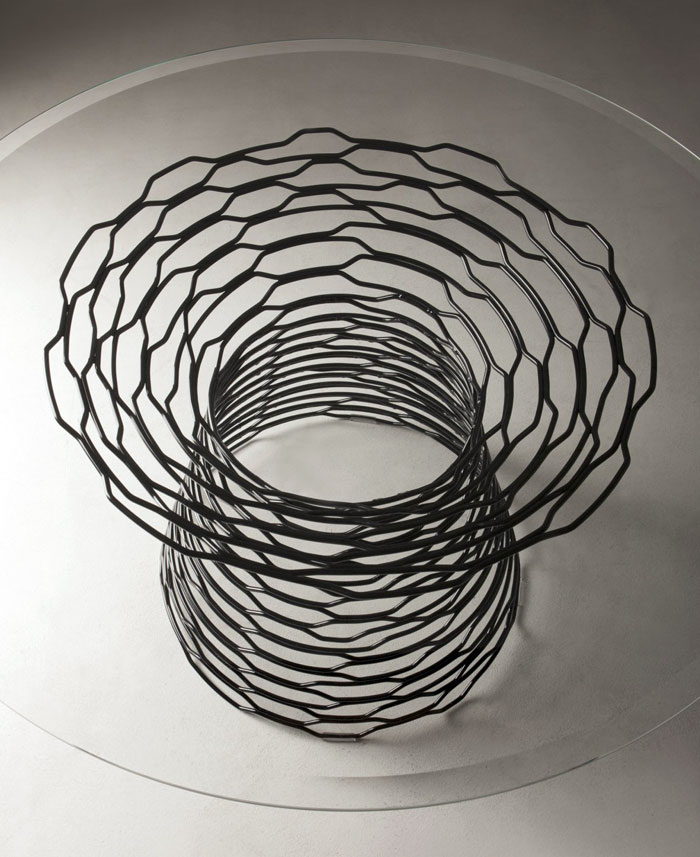 table-tron-steel-glass