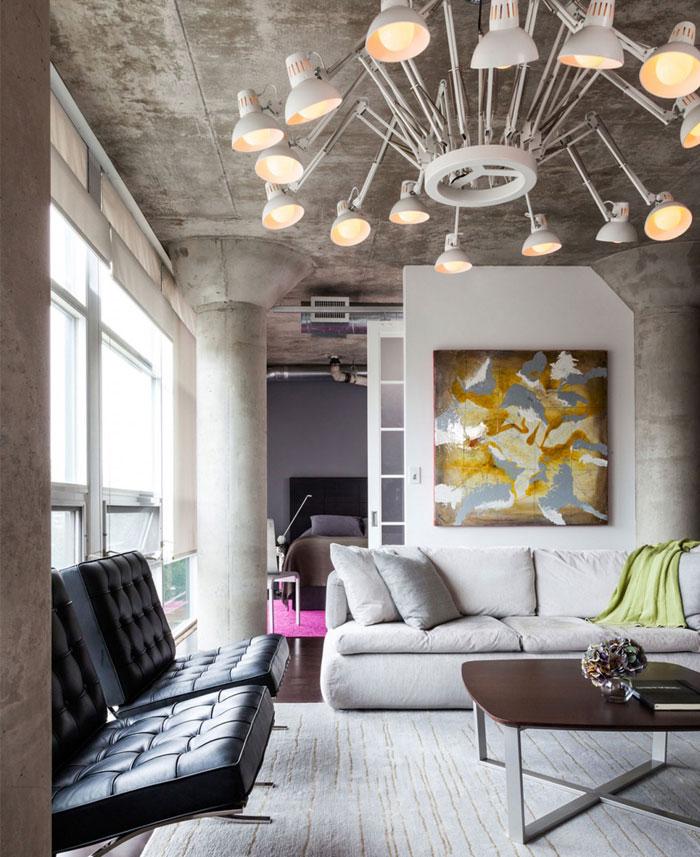 attractive-loft-raw-concrete-ceiling