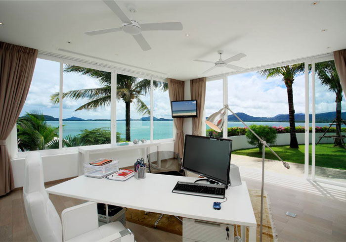 Beautiful Home Design With Modern Vintage Interior Ocean View Oceanfront Beach House With Unique Panorama In Phuket InteriorZine