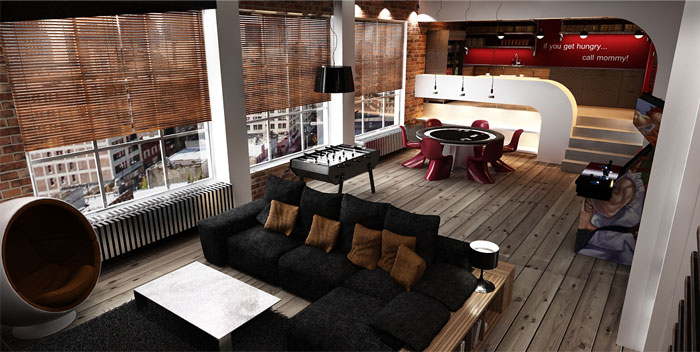 urban loft interior design by george papos interiorzine