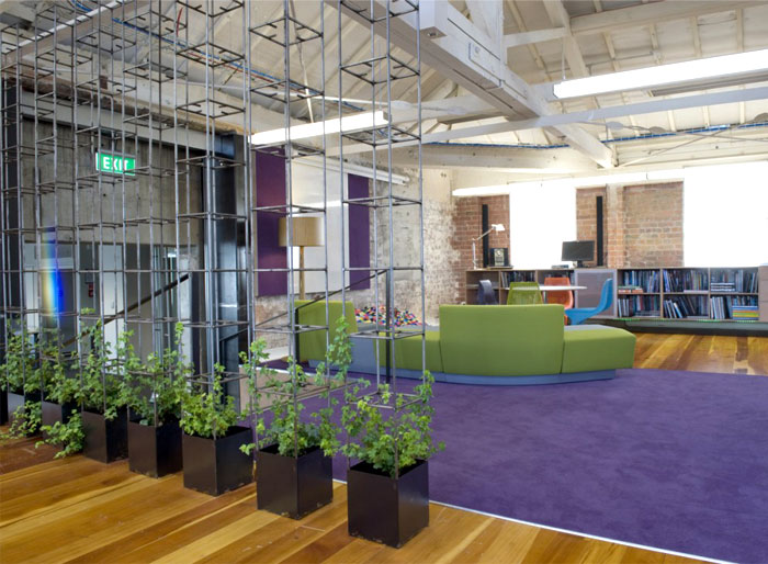 office-space-metal-pots-planted