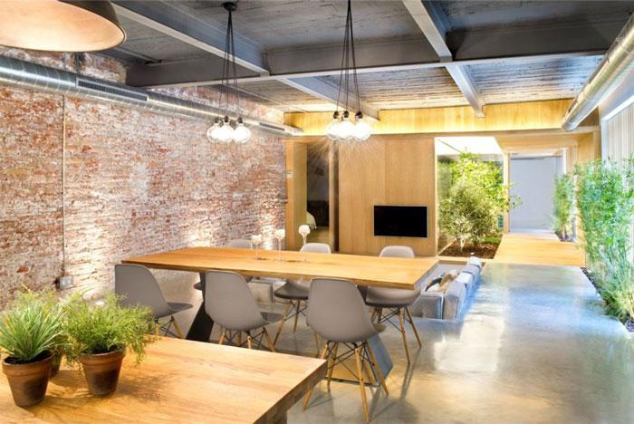 Industrial Loft Space With Fresh Green Decor Interiorzine