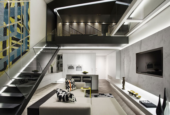 Trendy apartment decor with geometric and graphic elements - Rhythm in interior design ...