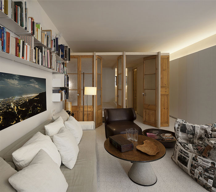 living-room-re-used-wood-doors