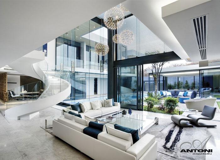 U shaped modern family home by saota interiorzine for U shaped architecture