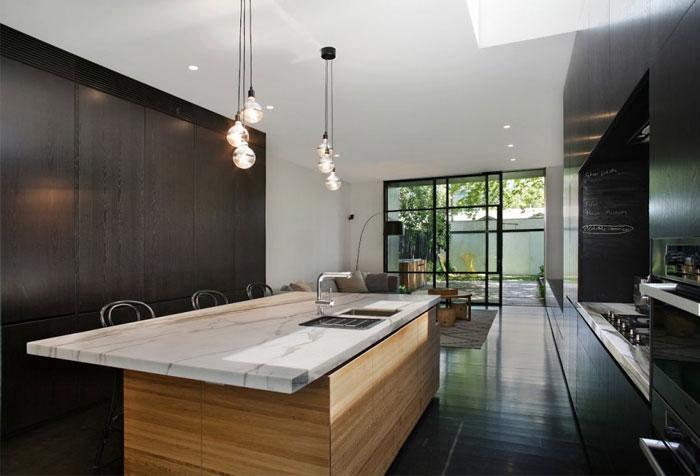dark-timber-calcutta-marble-kitchen-decor