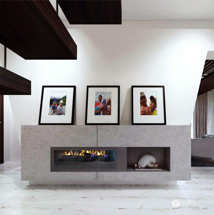 Hiện đại ấm cúng đồ đạc Home Studio Tolicci gia đình lò sưởi trang trí nhà