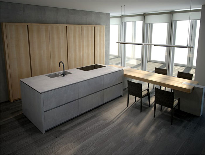 kitchen-cement-solid-wood