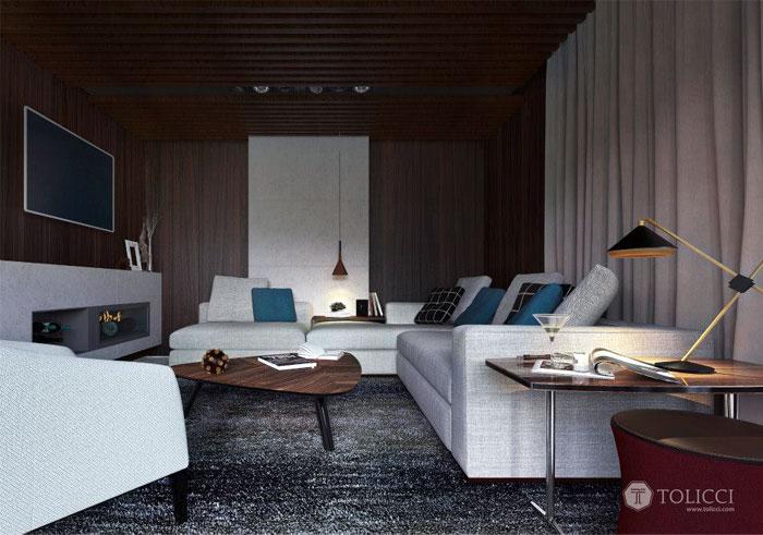 Hiện đại ấm cúng đồ đạc Home Studio Tolicci hiện đại lò sưởi nhà nội thất ấm cúng