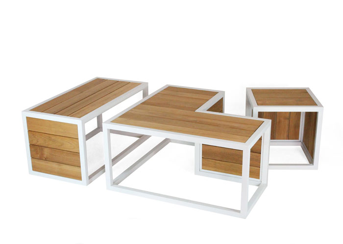 outdoor-furniture-white-painted-aluminum-burmese-teak-slats