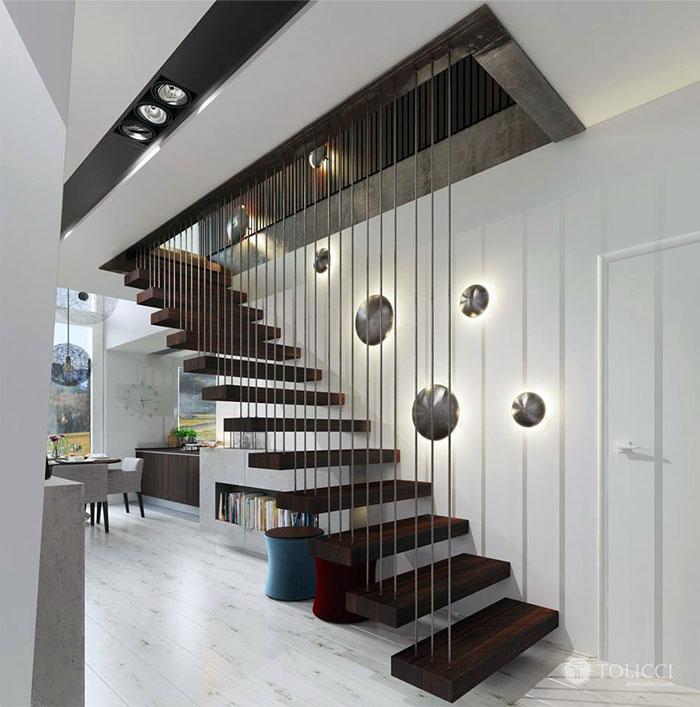 Trang chủ hiện đại ấm cúng đồ đạc bởi Studio Tolicci cài đặt ánh sáng cầu thang