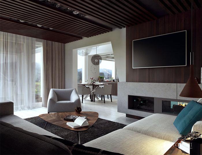Hiện đại ấm cúng đồ đạc Home Studio Tolicci phòng thu tolicci phòng khách trang trí