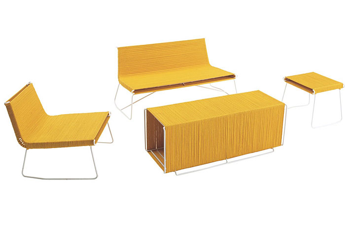 Sunny yellow outdoor furniture collection interiorzine for Outdoor furniture yellow