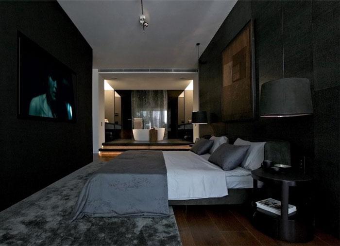 dark-gray-black-bedroom-interior
