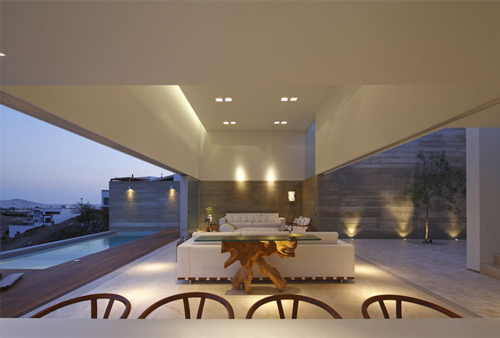 Modern Wood Stone Home Design InteriorZine
