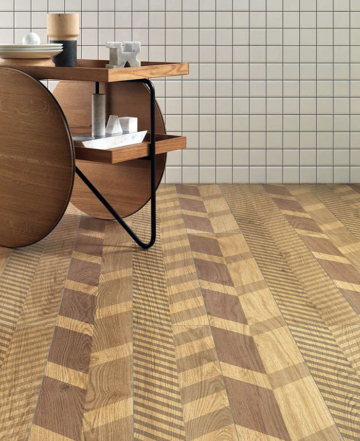 herringbone effect floor tile