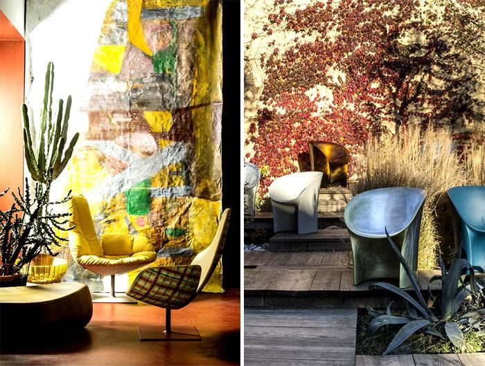 Tuyệt vời bọc nội thất bằng Moroso ghế trăng Tokujin Yoshioka