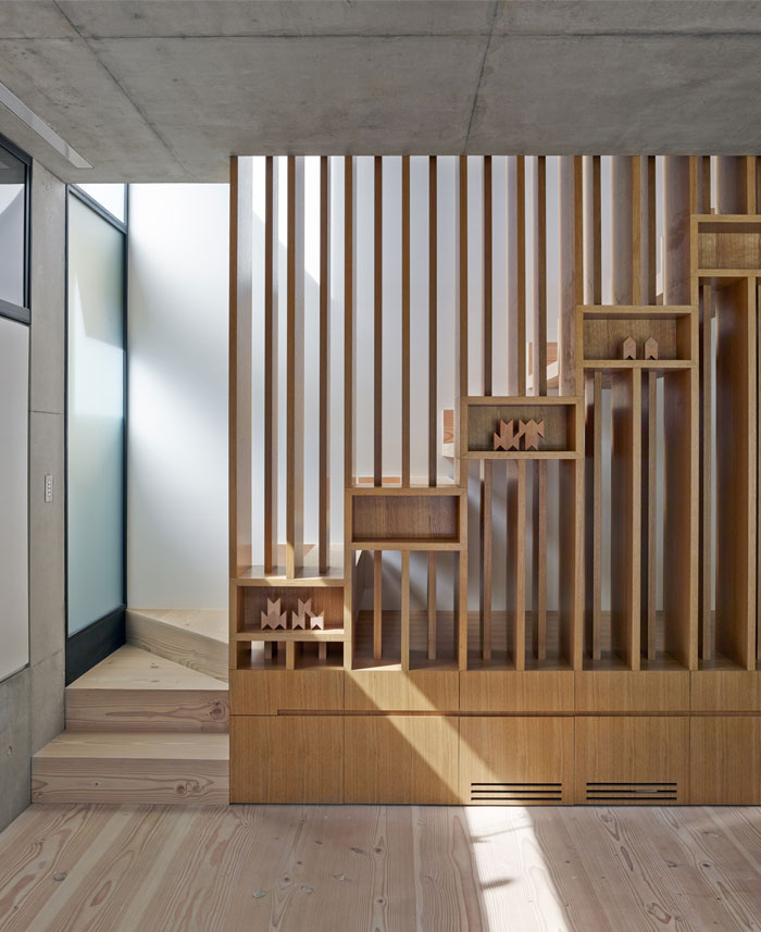 Two Storey Concrete And Timber Frame House InteriorZine