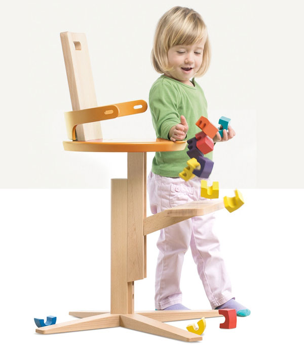 Wooden High Froc Chair for Toddlers and Kids InteriorZine : adjustable high chair playful kids from interiorzine.com size 600 x 694 jpeg 41kB