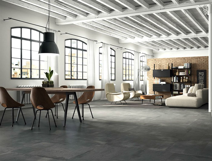 Porcelain Floor Tiles With Concrete Effect Interiorzine