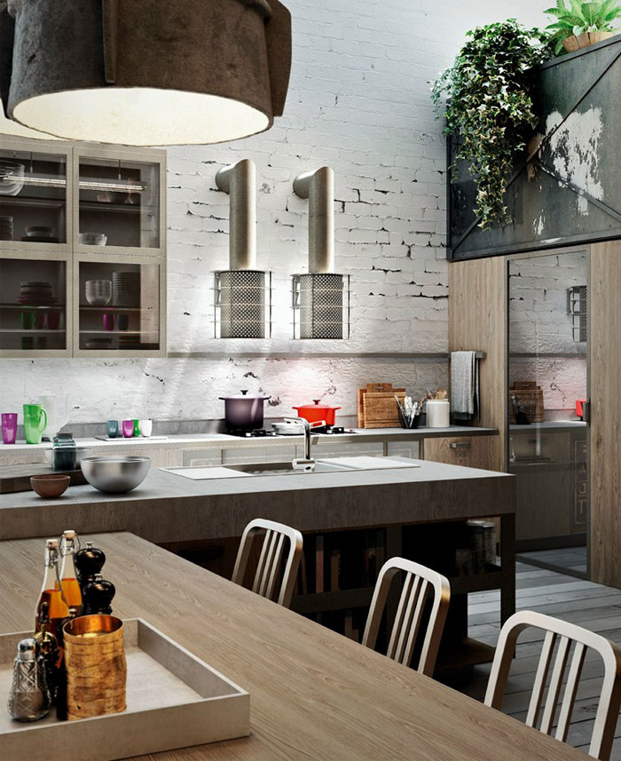 Modern Industrial Kitchen Design: Loft Style Kitchen Design By Michele Marcon