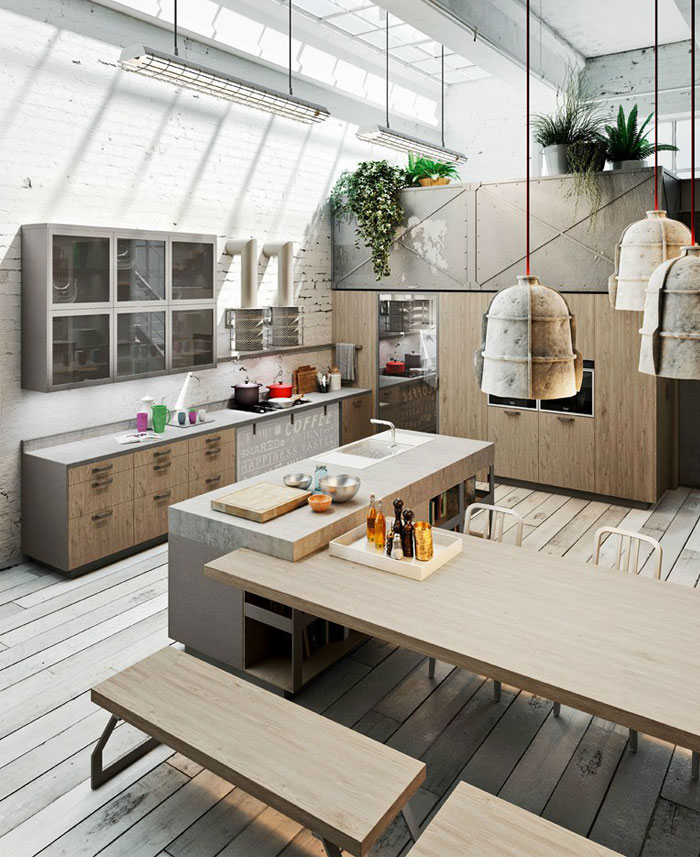 cement-stainless-steel-kitchen-design