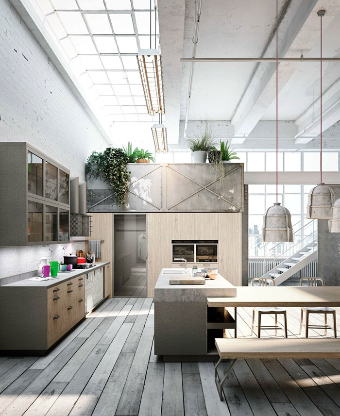 Loft Style Kitchen Design By Michele Marcon