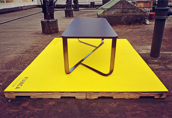 table-rectangular-steel-structure