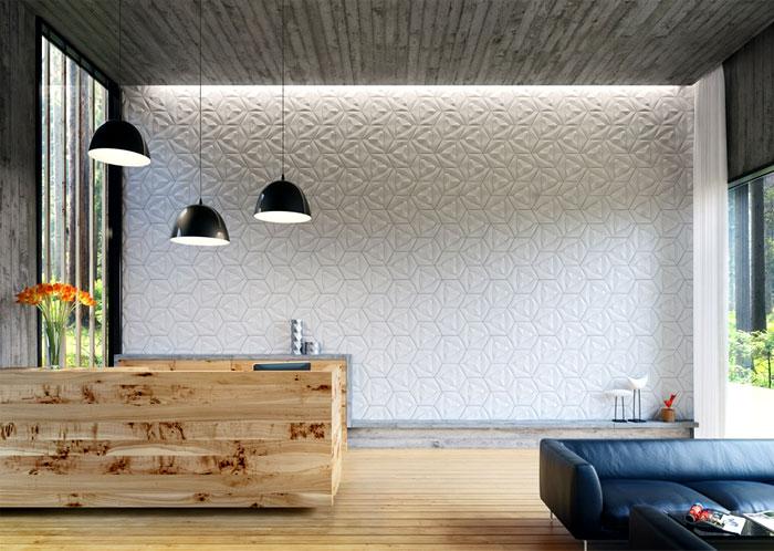 organic geometric concrete tile by kaza concrete. Black Bedroom Furniture Sets. Home Design Ideas