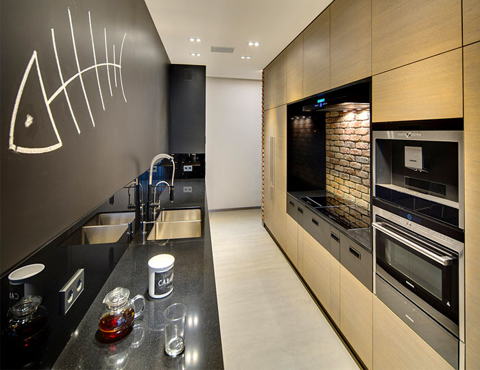 kitchen-walls-painted-black
